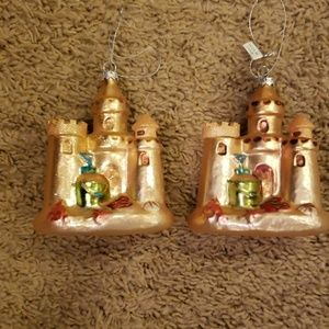 Other - Lot of 2 sandcastle ornaments
